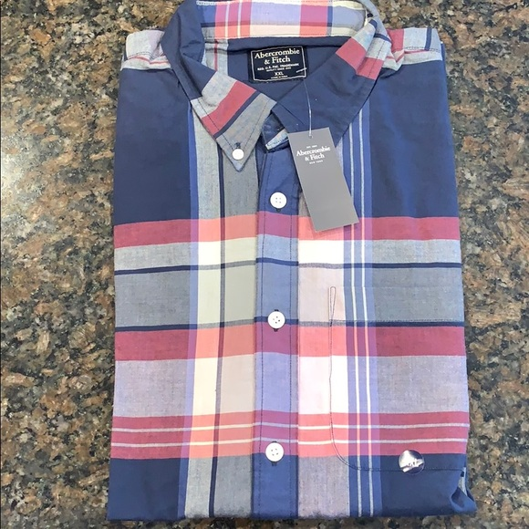 Abercrombie & Fitch Other - NWT men's Abercrombie and Fitch plaid shirt XXL